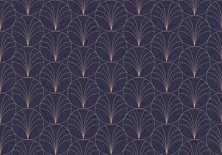 Vintage Art Deco Seamless Pattern. Geometric decorative texture. Banco de Imagens - 151222599