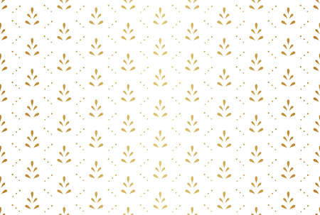 Abstract Decorative Tile. Geometric Ginkgo Seamless Pattern. Floral background. Illustration