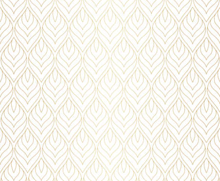 Vector Abstract Seamless Pattern. Art Deco Style Background. Geometric texture. Banco de Imagens - 151222608