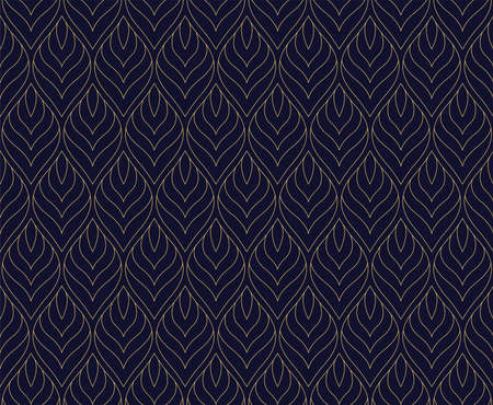 Vector Abstract Seamless Pattern. Art Deco Style Background. Geometric texture. Banco de Imagens - 151222610