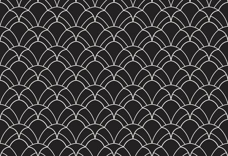 Nahtloses Muster des Vektorblumendamastes. Eleganter abstrakter Jugendstilhintergrund. Klassische Blumenmotivbeschaffenheit. Vektorgrafik