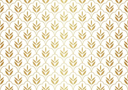 Elegant Floral Vector Seamless Pattern. Decorative Flower Illustration. Abstract Art Deco Background with Leaves. 向量圖像