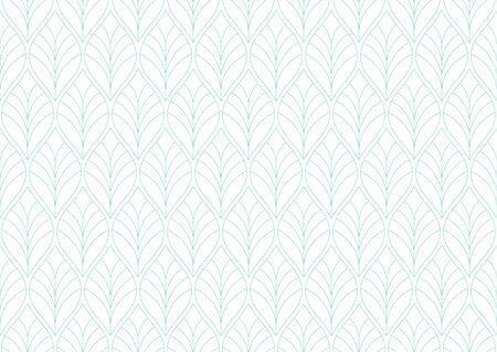 Geometric leaves vector seamless pattern. Abstract vector texture. Leaf background. 向量圖像