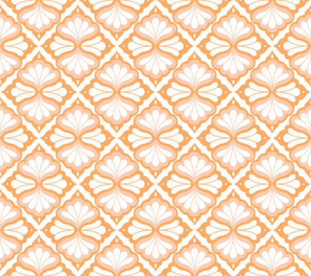 Elegant Damask Floral Vector Seamless Pattern. Decorative Flower Illustration. Abstract Art Deco Background.