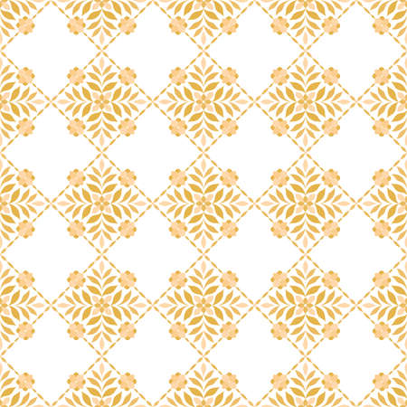 Damask floral seamless pattern. Vector retro style background print. Decorative flower texture.