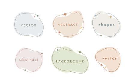 Abstract vector minimal background. Trendy organic shape banner for social media, invitation, web.