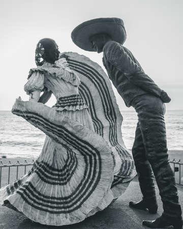 "Sculpture ""The dancers of Puerto Vallarta"" by Jim Demetro, located on the boardwalk in Puerto Vallarta."