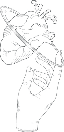 spinning: heart spinning illustration  Illustration