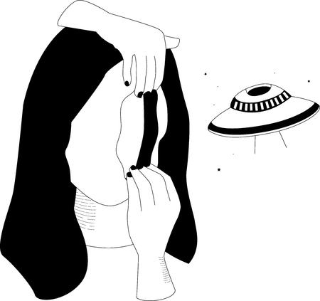 woman face portal