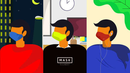 Nowadays, mask is a must. Pandemi makes a mask to be a new member of life-must-tools, even there is a pinalty for those who don't use it while taking an activity.
