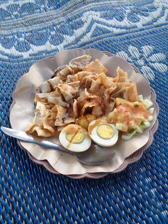Somay Bandung, Indonesia cuisine street food. vegan food. - Image Stock Photo