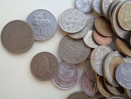 Pile of coin. Various coins from some country for business, money, financial coins and economy