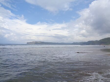 Beautiful beach with nature background. Good place to spent a holiday.