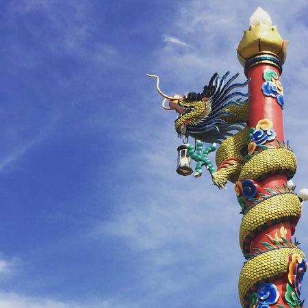 Dragon Lamp post