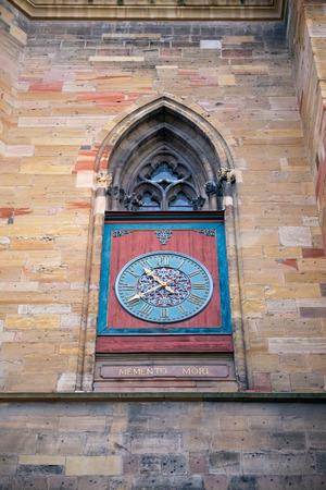 freiburg: The close-up photo of the clocks of Freiburg Minster, Germany Stock Photo