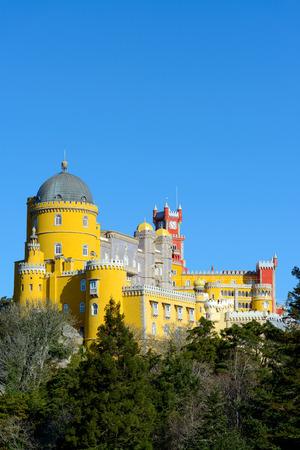 the pena national palace: Pena National Palace, Romanticist palace in Sao Pedro de Penaferrim.