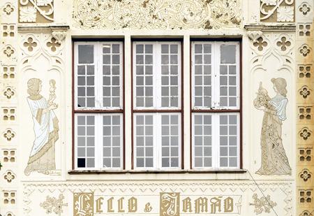 Facade of the famous bookstore Livraria Lello in Porto, Portugal Zdjęcie Seryjne