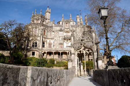quinta: Main house of Quinta da Regaleira, Sintra, Portugal