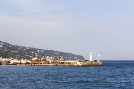 distant spot: view of the beacon in Yalta