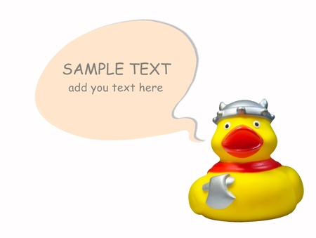 yellow duck isolated on a white background   Stock Photo
