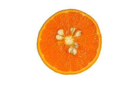 slice of orange. isolated on white.  Stock Photo