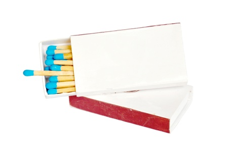 matches in a box on a white background