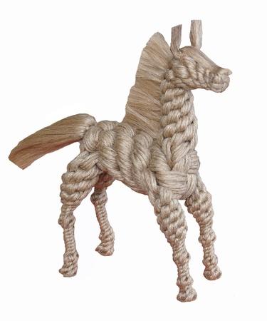 rope horse isolated on white background