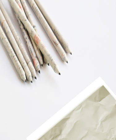 Paper with handmade pencil