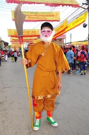 Chumsaeng, Nakhon Sawan Province, December 10: Celebrate the Chinese New Year parade.
