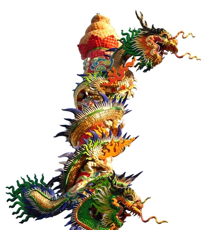 Chinese dragon image on white backgrounds.