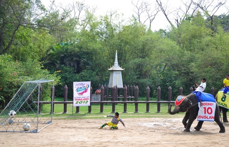 Elephant  show at Samphran Elephant Ground & Zoo, Thailand.   Editorial