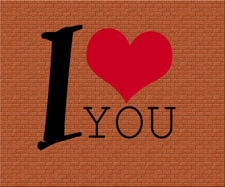 red heart with text ,I love you,
