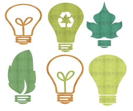 Ecology bulb light  Stock Photo