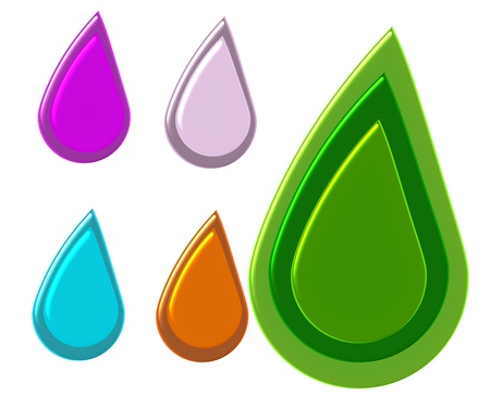 color drop on white isolant background