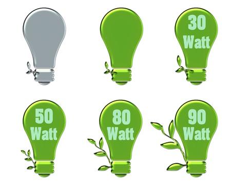 creative eco bulb green and gray color Stock Photo - 12394995