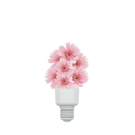 Renewable energy concept with flower