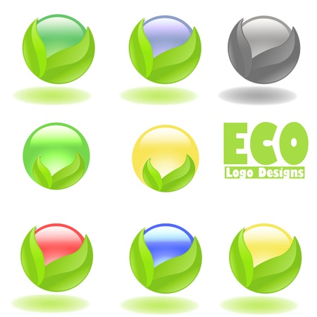 Eco Logo Designs with Sphere Designs with Sphere photo