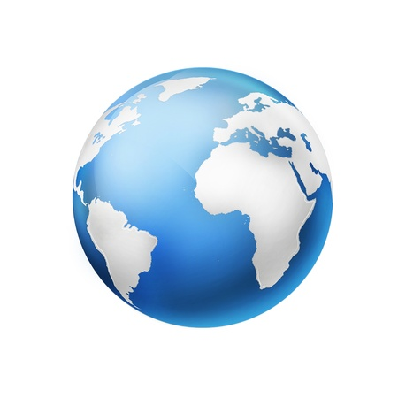 Globe of the world - abstract illustration illustration
