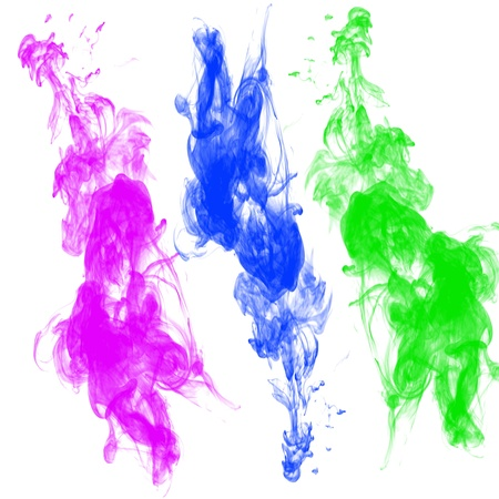 Abstract ink in water on a white background Stock Photo