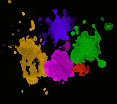 Color paint splashes  Gradient Stock Photo
