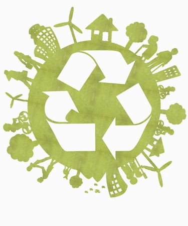 Green Recycle Sign photo