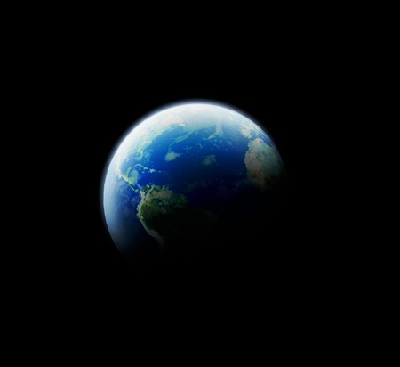blue planet earth in space
