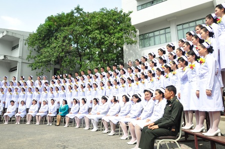 conscripts: University graduates of an Army nurse at 45.