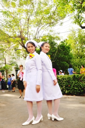 conscripts: New graduated girl student of an Army nurse
