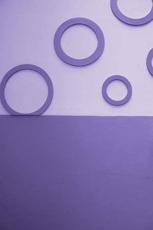 circles on the wall, abstract violet  background