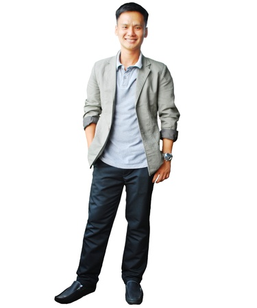 Happy smiling man stand and looking at camera Stock Photo - 13487190