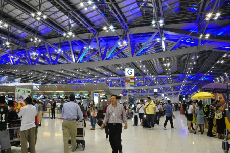 Suvarnabhumi Airport, New Bangkok Airport, Thailand Stock Photo - 14340381