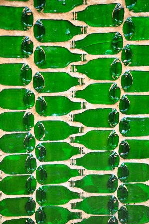 Abstract green bottle background Stock Photo