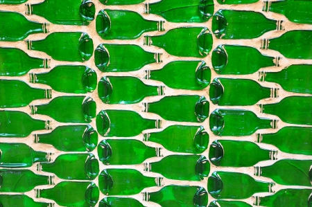 Abstract green bottle background Stock Photo - 14475563