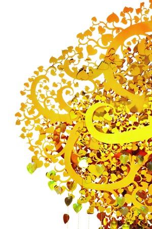 Golden tree wood Thai art  Stock Photo - 18520572